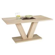 JEDILNA MIZA, hrast sonoma  - hrast sonoma, Konvencionalno, leseni material (135/80/75,5cm) - Carryhome
