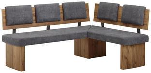 ECKBANK 180/140 cm  in Grau, Eichefarben  - Eichefarben/Grau, KONVENTIONELL, Holzwerkstoff/Textil (180/140cm) - Cantus