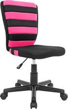 JUGENDDREHSTUHL Netzbespannung Pink, Schwarz - Pink/Schwarz, Design, Kunststoff/Textil (41/81-93/51cm) - CARRYHOME