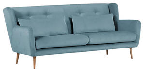 2,5-SITZER in Textil Hellblau  - Naturfarben/Hellblau, Design, Textil (205/86/90cm) - Carryhome