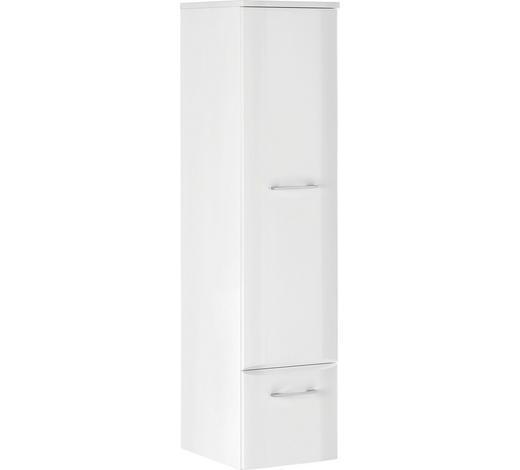 SEITENSCHRANK 30/128/38 cm - Chromfarben/Weiß, Design, Holzwerkstoff/Metall (30/128/38cm) - Xora