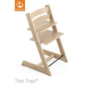Tripp Trapp Hochstuhl Eiche Hartholz, massiv Oak White - Eichefarben, Basics, Holz (46/79/49cm) - STOKKE