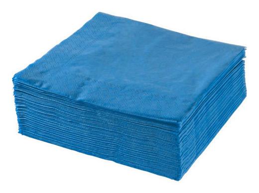 SERVIETTE  Papier  Blau  40/40 cm - Blau, Basics, Papier (40/40cm) - Xxxlpack