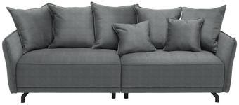 MEGASOFA in Textil Grau  - Schwarz/Grau, Design, Textil/Metall (226/91/103cm) - Carryhome