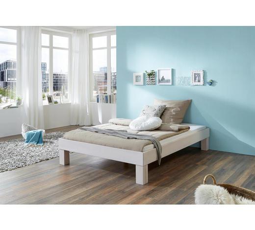 FUTONBETT in Holz Weiß - Weiß, Design, Holz (180/200cm)