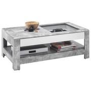COUCHTISCH in Glas, Holzwerkstoff 110/60/41 cm   - Hellgrau/Weiß, Design, Glas/Holzwerkstoff (110/60/41cm) - Carryhome