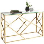 KONSOLENTISCH in Metall, Glas 120/40/78 cm    - Goldfarben, Design, Glas/Metall (120/40/78cm) - Xora