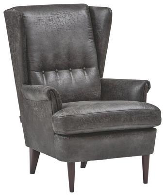 KŘESLO, antracitová, textil - tmavě hnědá/antracitová, Trend, dřevo/textil (72/104/85cm) - Ambia Home