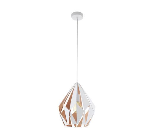 HÄNGELEUCHTE - Goldfarben/Weiß, Design, Metall (31/110cm) - Marama