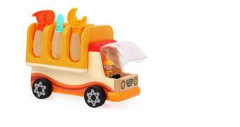 Spielfahrzeug - Multicolor, Natur, Holzwerkstoff/Kunststoff (27,5/13,7/22cm) - My Baby Lou