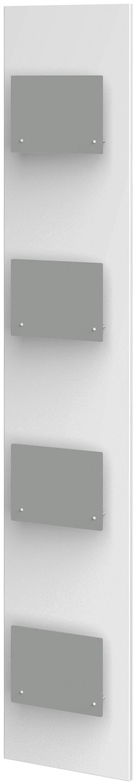 HÄNGEELEMENT Grau, Weiß - Weiß/Grau, Design, Glas (35/200/8cm) - Xora