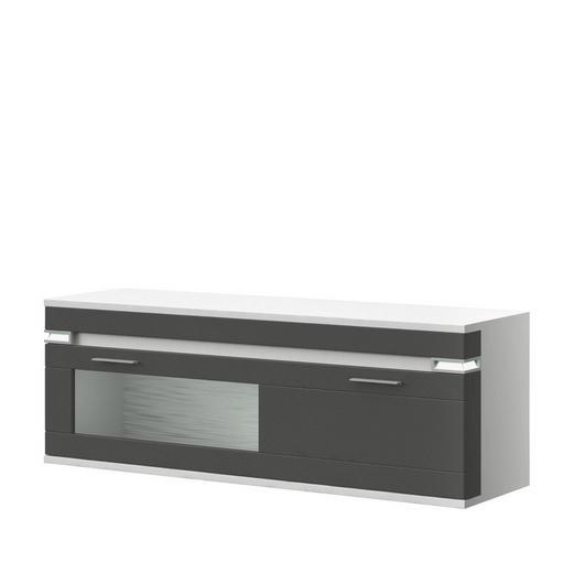 HÄNGESIDEBOARD Melamin - Graphitfarben/Alufarben, Design, Glas/Kunststoff (140,1/49/41cm) - Stylife