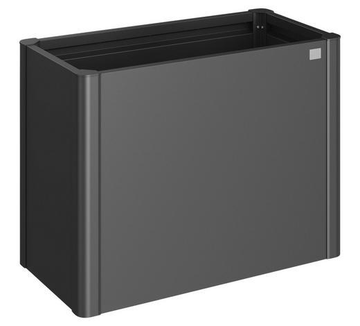 PFLANZENSCHALE - Dunkelgrau, Basics, Metall (102/53/77cm) - Biohort
