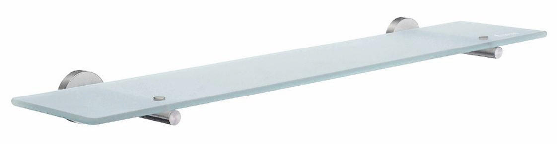 BADEZIMMERKONSOLE Glas, Metall Chromfarben - Chromfarben, Basics, Glas/Metall (60/12cm)