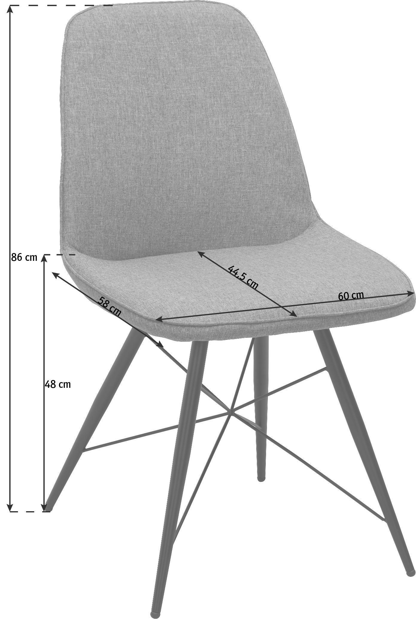 STOL - grön/svart, Design, metall/textil (60/86/58cm) - Carryhome