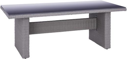 GARTENTISCH Glas, Kunststoff, Metall Grau, Schwarz - Schwarz/Grau, LIFESTYLE, Glas/Kunststoff (200/100/74cm) - Ambia Garden