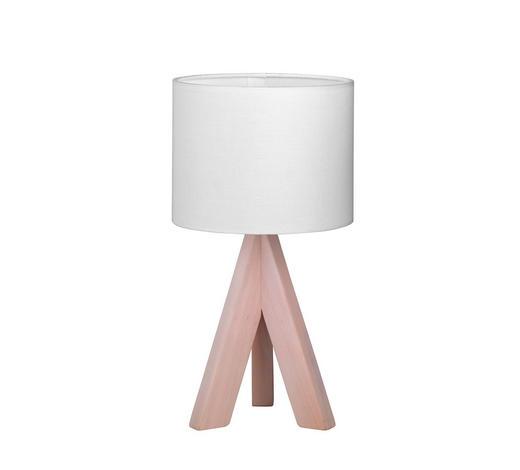 LAMPA STOLNÍ - bílá, Lifestyle, dřevo/textil (17/31cm) - Boxxx