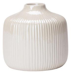 VAS - vit, Design, keramik (11/10,5cm) - Ambia Home