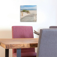Strand & Meer GLASBILD - Multicolor, Design, Glas (30/30/2cm) - Eurographics