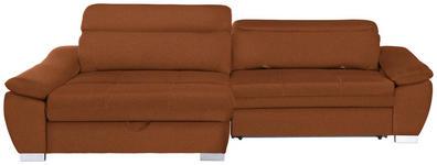 WOHNLANDSCHAFT in Textil Orange  - Silberfarben/Orange, MODERN, Kunststoff/Textil (175/270cm) - Carryhome