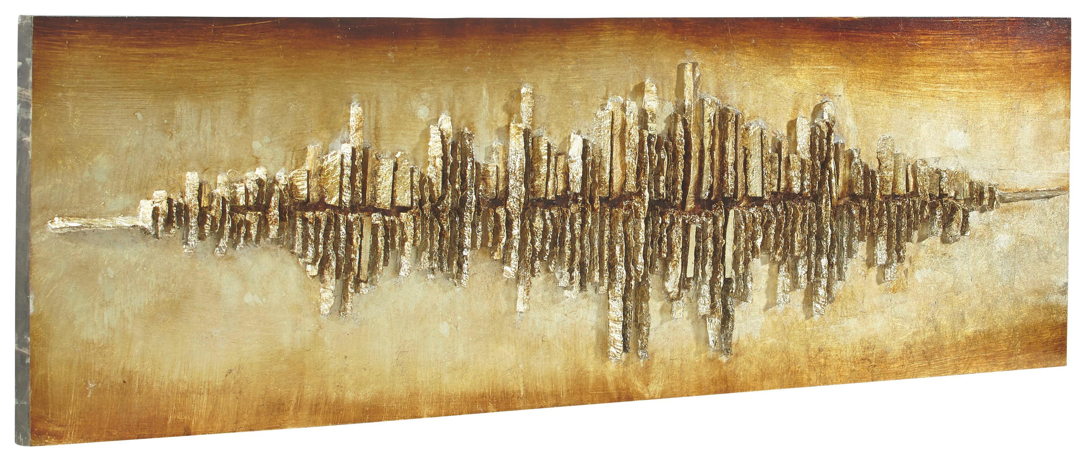 BILD - Silberfarben/Goldfarben, Design, Holz (55/180cm) - MONEE