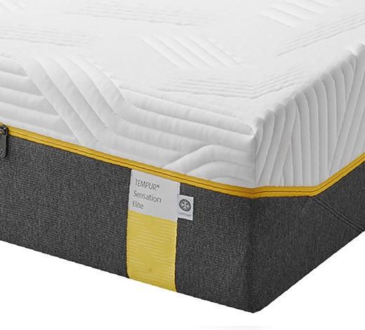 MATRATZE SENSATION ELITE - Weiß/Grau, Basics, Textil (90/200cm) - Tempur