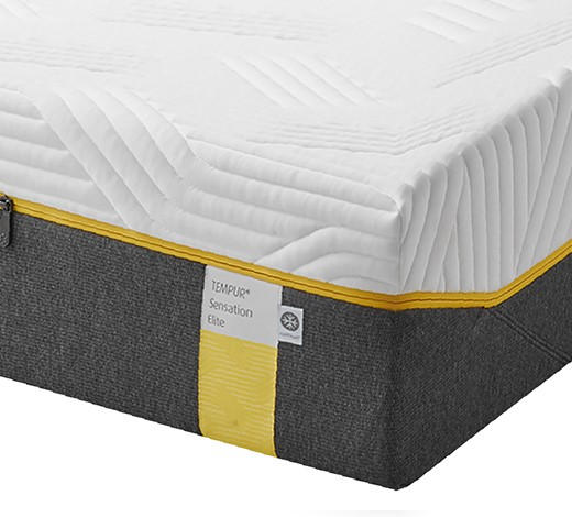 MATRATZE SENSATION ELITE 90/200 cm - Weiß/Grau, Basics, Textil (90/200cm) - Tempur
