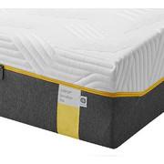 MATRATZE SENSATION ELITE 90/200 cm 25 cm - Weiß/Grau, Basics, Textil (90/200cm) - Tempur