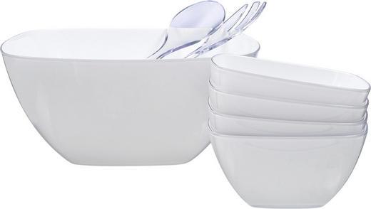 Salatset 6-teilig - Weiß, Basics, Kunststoff - Emsa