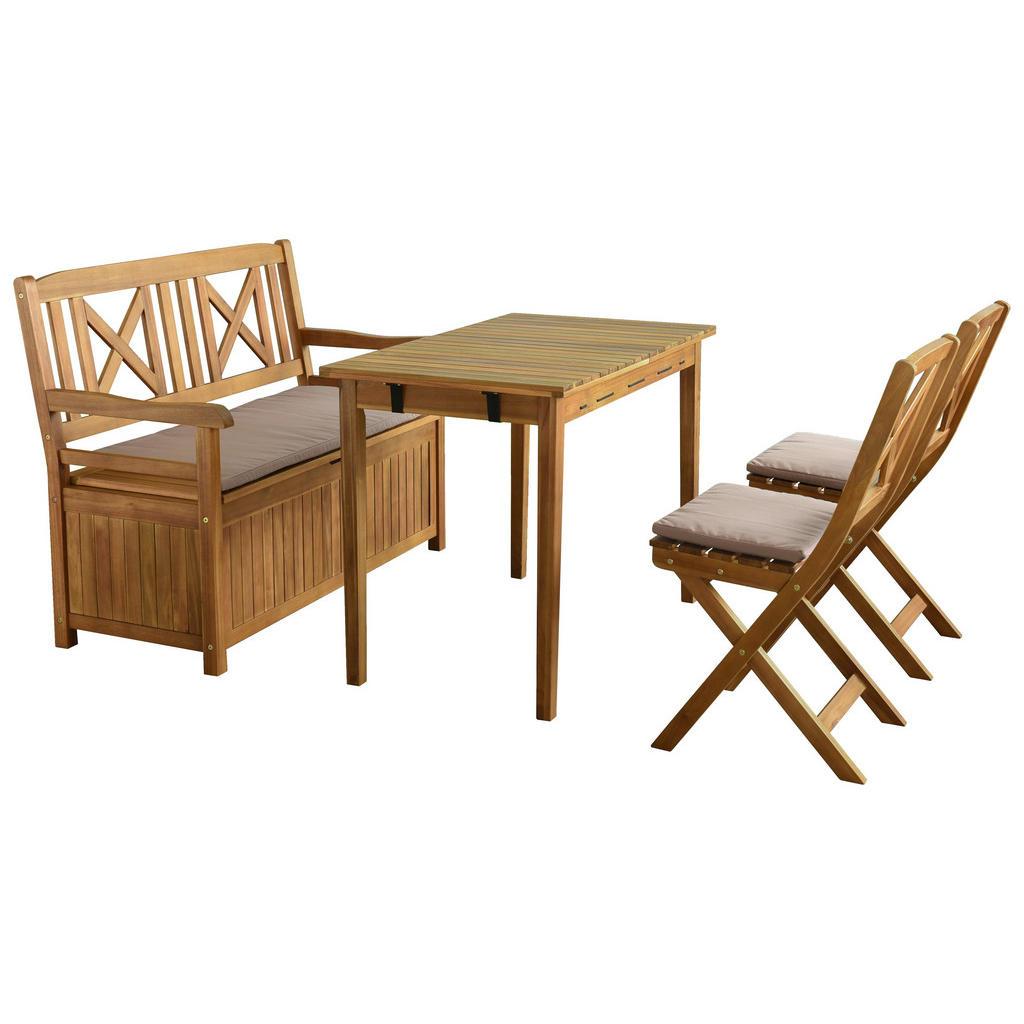 Sitzgruppe aus Akazienholz für Garten und Terrasse