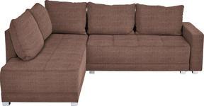 WOHNLANDSCHAFT in Textil Braun - Silberfarben/Schwarz, Design, Kunststoff/Textil (207/243cm) - Xora