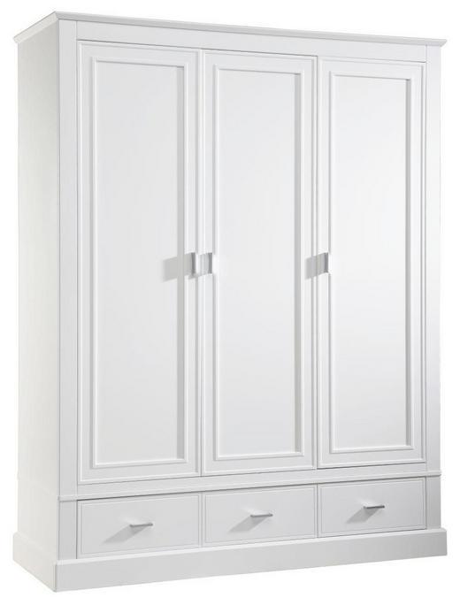 BABYKLEIDERSCHRANK Isolde Weiß - Alufarben/Weiß, Trend, Holzwerkstoff/Metall (150,5/192/56cm) - Jimmylee