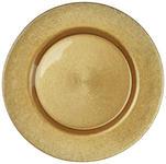 PLATZTELLER  32,5 cm  - Goldfarben, Trend, Glas (32,5cm) - Novel