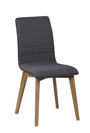 STOL - mörkgrå/ekfärgad, Design, trä/textil (49/89/50cm) - Rowico