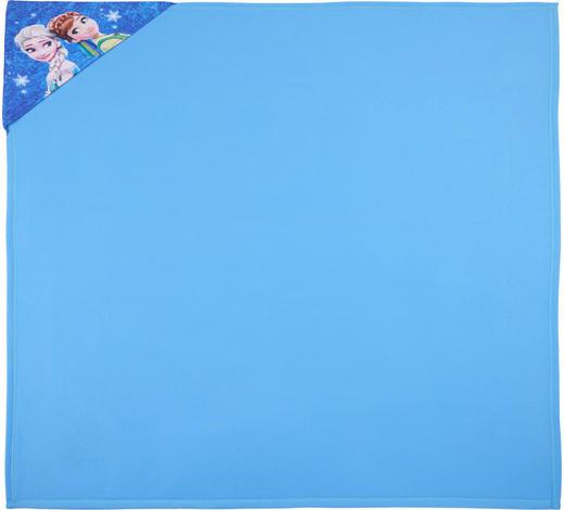 KUSCHELDECKE 130/130 cm - Blau, Basics, Kunststoff (130/130cm)