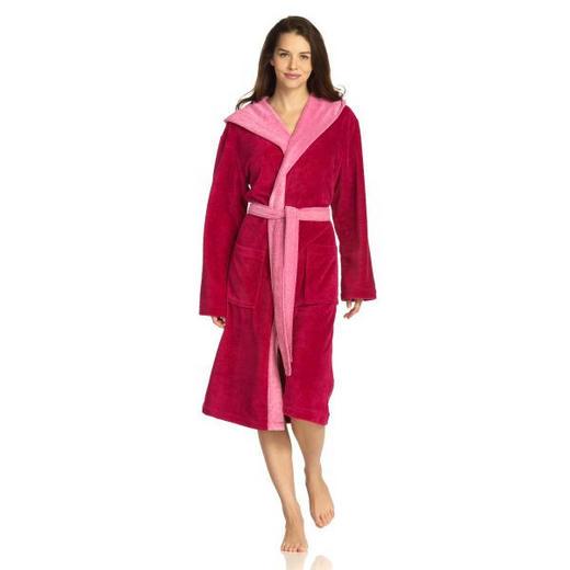 BADEMANTEL  Pink - Pink, Basics, Textil (S) - Vossen