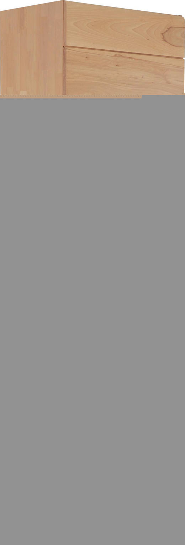 GARDEROBENSCHRANK Kernbuche massiv Buchefarben - Buchefarben, Design, Glas/Holz (60/200/40cm) - Linea Natura
