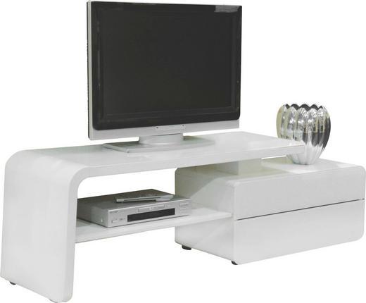 TV-ELEMENT Weiß - Weiß, Design, Glas (180/51/45cm)