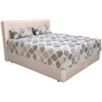 POSTEL BOXSPRING, 180 cm  x 200 cm, textil, bílá, šedá - bílá/šedá, Konvenční, textil (180/200cm) - Blanar