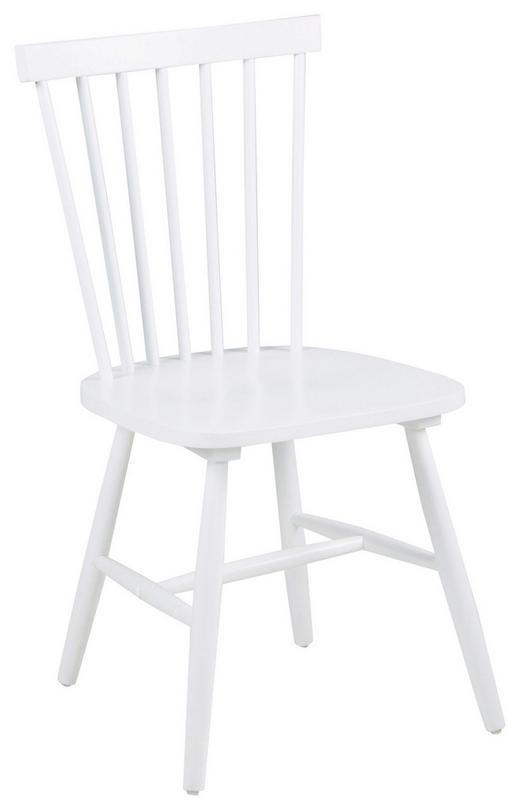STUHL Kautschukholz massiv Weiß - Weiß, Design, Holz (49/86/49cm) - Carryhome
