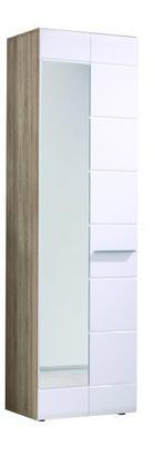 ORMAR - bijela/hrast Sonoma, Design, drvni materijal (60/199/35cm) - Xora