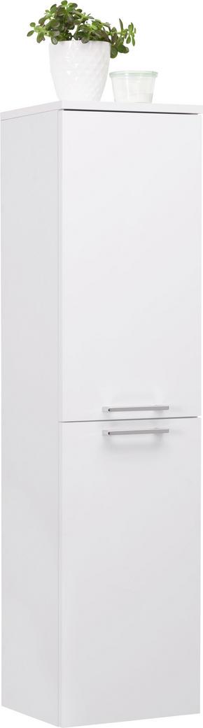 SIDOSKÅP - vit/kromfärg, Klassisk, metall/träbaserade material (35/138/31,6cm) - Low Price