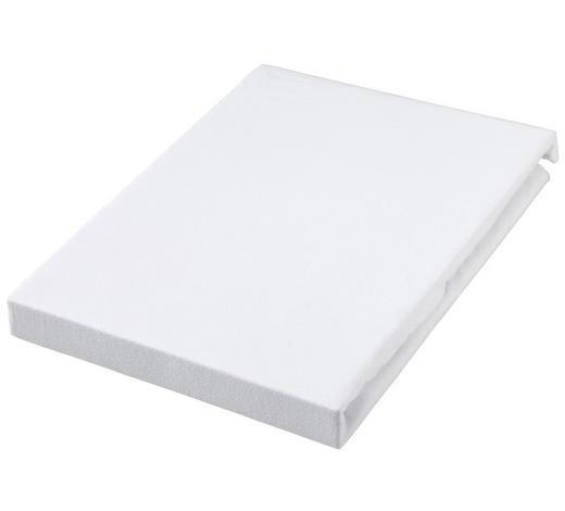 SPANNBETTTUCH Jersey Weiß bügelfrei, für Wasserbetten geeignet - Weiß, Basics, Textil (100/200cm) - Novel