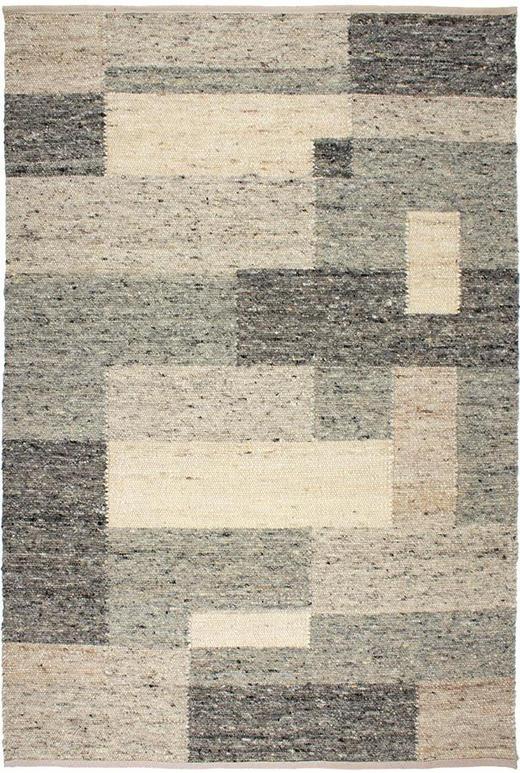 HANDWEBTEPPICH  170/230 cm  Beige, Grau, Weiß - Beige/Weiß, Basics, Weitere Naturmaterialien (170/230cm) - Linea Natura