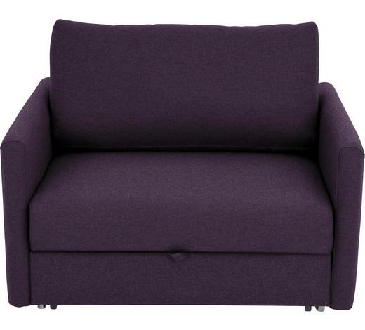 SCHLAFSESSEL in Textil Violett  - Chromfarben/Violett, Design, Textil/Metall (116/77-88/110-120cm) - Bali
