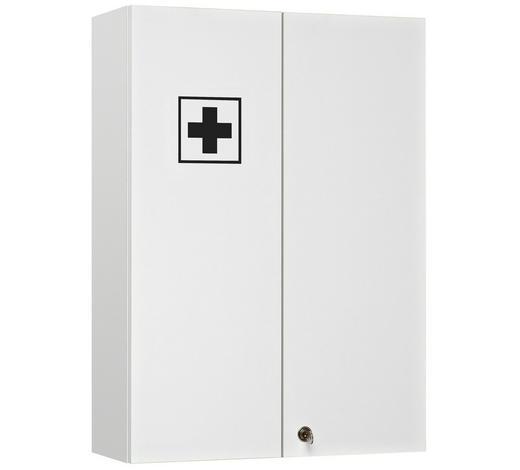 LÉKÁRNIČKA, bílá - bílá, Konvenční, kompozitní dřevo/sklo (50/70/20cm) - Xora