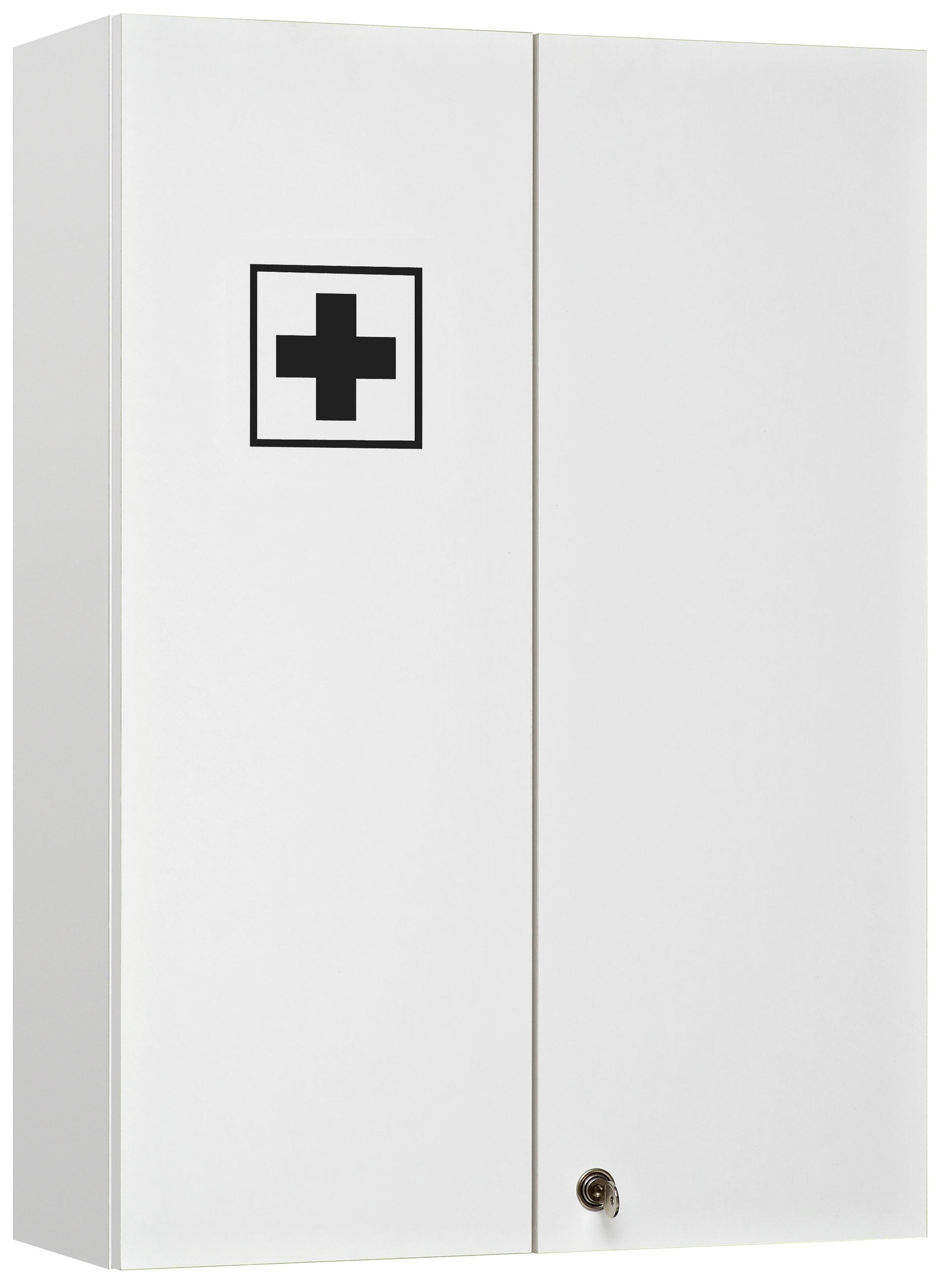 MEDIZINSCHRANK Weiß - Weiß, KONVENTIONELL, Glas (50/70/20cm) - XORA