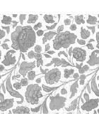 Serviette - Silberfarben/Weiß, Konventionell, Papier (33/33cm)