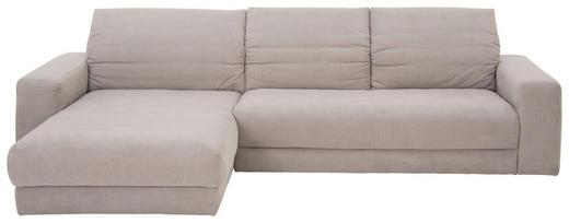 WOHNLANDSCHAFT in Textil Hellgrau - Hellgrau/Schwarz, Design, Textil (195/312cm) - Pure Home Lifestyle