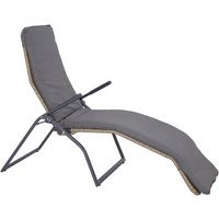 RELAXLIEGE in Beige, Grau - Beige/Grau, Design, Kunststoff/Textil (159/112/67cm) - AMBIA GARDEN